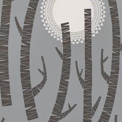 Woods Twilight Grey Wallpaper