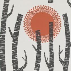 Woods Aztec Red Wallpaper