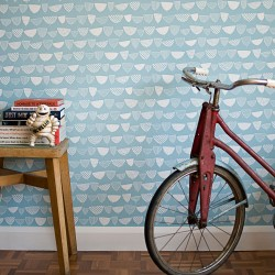 Allsorts Lincoln Pale Blue Wallpaper
