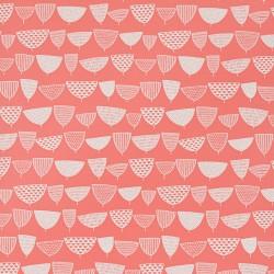 Allsorts Coral Pink Wallpaper