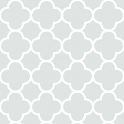 Origin Pale Grey and White Trellis Wallpaper