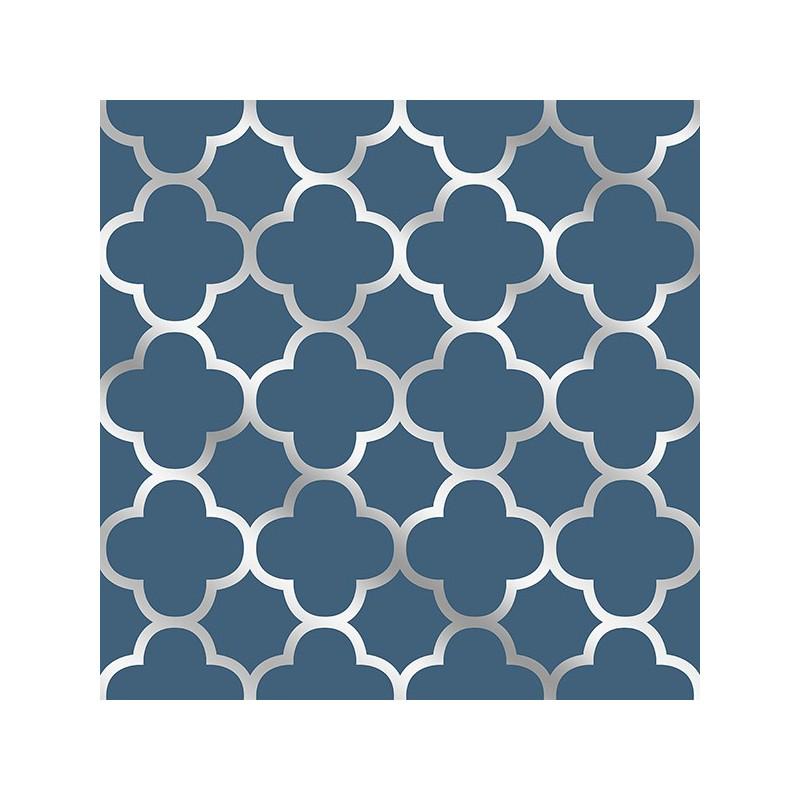 Buy Origin Navy Blue Silver Trellis 2625 21855 Wallpaper