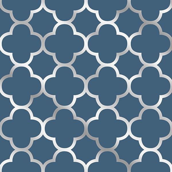 Buy Origin Navy Blue Silver Trellis 2625 21855 Wallpaper Direct UK