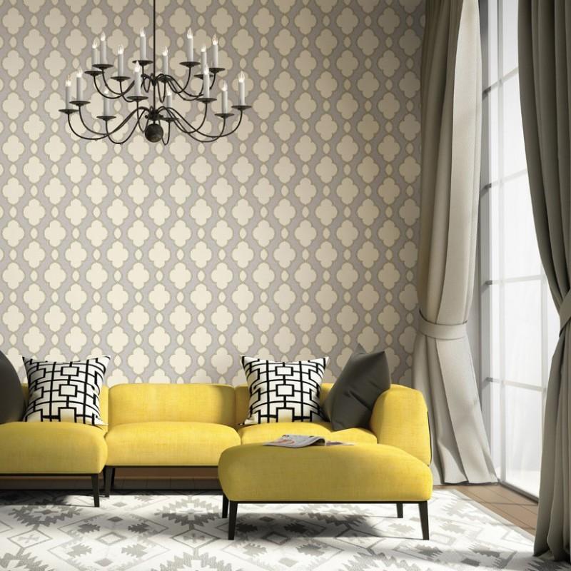 Yellow Trellis Wallpaper: Buy Structure Grey Cream Yellow 2625-21820 Wallpaper Direct UK