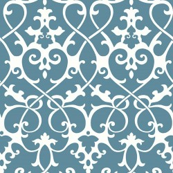 Axiom Marine Blue and White Trellis Wallpaper