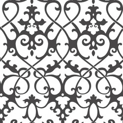 Axiom Black and White Trellis Wallpaper
