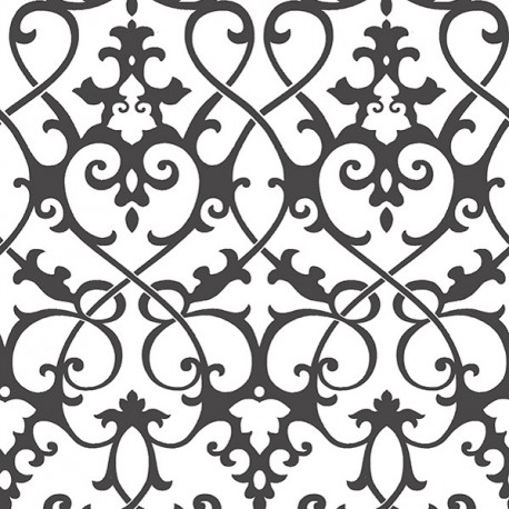 Axiom Black and White Trellis Wallpaper