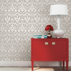 Axiom Mica Grey Trellis Wallpaper