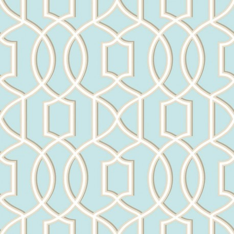 Quantum Pale Blue and Cream Trellis