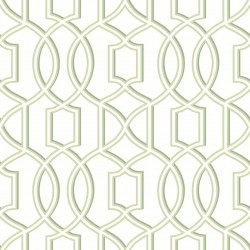 Quantum Pale Green and White Trellis