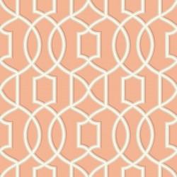 Quantum Coral Pink Trellis