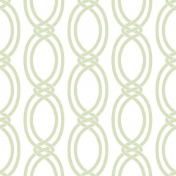 Infinity Pale Green and White Wallpaper