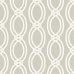 Infinity Pale Grey and White Wallpaper