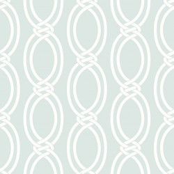 Infinity Pale Blue and White Wallpaper