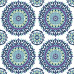 Boho Medallion Blue and Purple