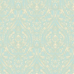 Gypsy Damask Turquoise Blue