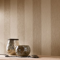 Glitterati Cream & Gold Stripe Wallpaper