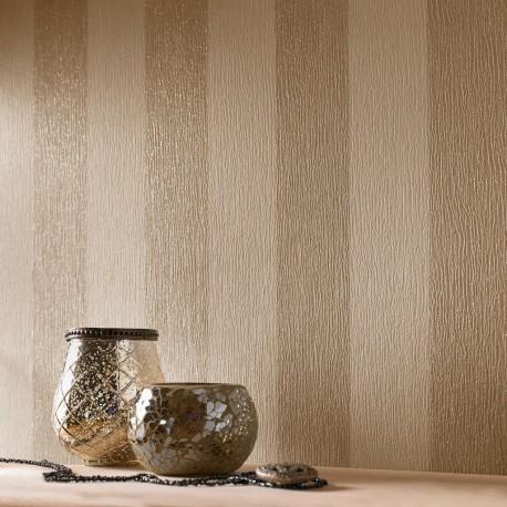 Glitterati Cream & Gold Stripe Wallpaper