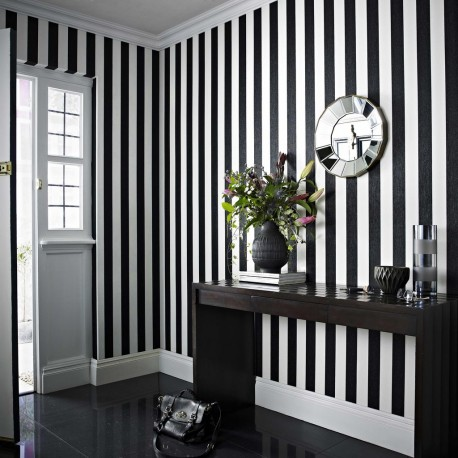 Glitterati Black White Stripe 32 960 Wallpaper