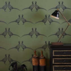 Pheasant Camo Green Wallpaper