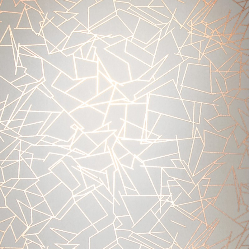 Erica Wakerly Angles Copper Wallpaper