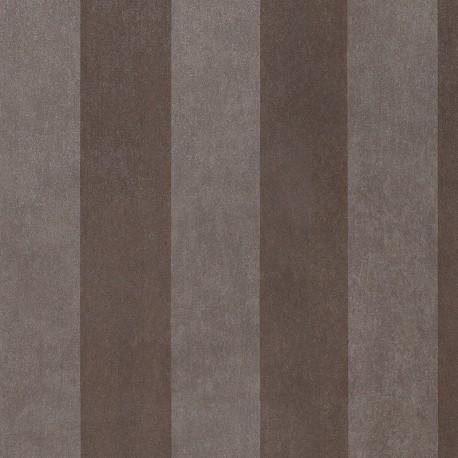 Enderby Dark Brown & Grey Striped Wallpaper