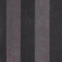 Enderby Black & Dark Grey Striped Wallpaper
