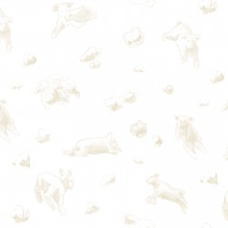 Flying Sheep Beige Wallpaper