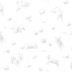 Flying Sheep Silver Wallpaper