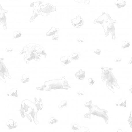 Flying Sheep Rosa Wallpaper