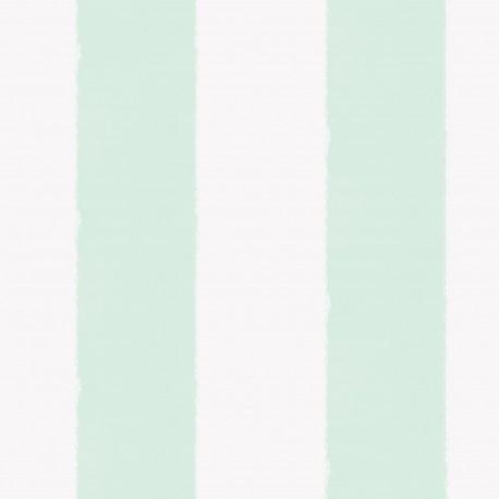 Comos Aqua Green and White Stripe