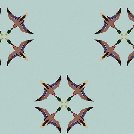 Grullas de Papel Azul Wallpaper