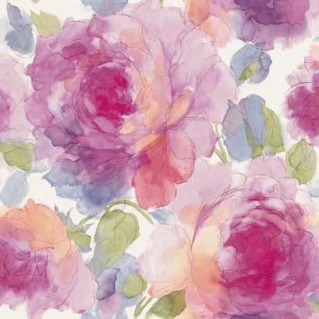 Bloomy Red Floral Wallpaper