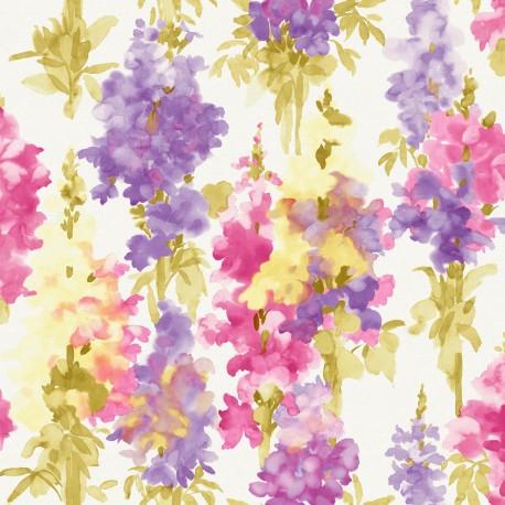 Conrad Green and Blue Floral Wallpaper