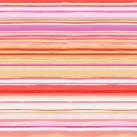 Drip Blue and Purple Striped Wallpaper