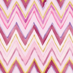 Tepi Pink and Orange Zig Zag Wallpaper