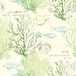 Coral Fish Green Wallpaper