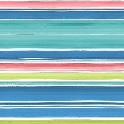 Elle Mutlicoloured Striped Wallpaper