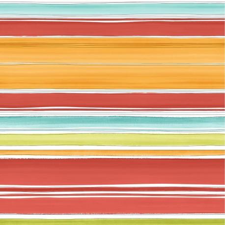 Stripe Terracotta Red Striped Wallpaper Stripe 33 W03
