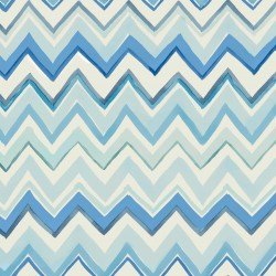 Zig Zag Multicoloured Green Wallpaper