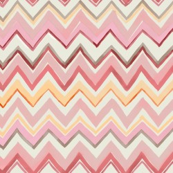 Zig Zag Multicoloured Pink Wallpaper