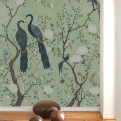 Edo Mint Green Wall Mural