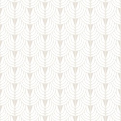 Cinema Beige Art Deco Wallpaper