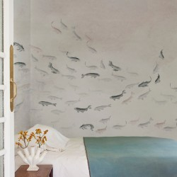 Koi Light Fish Wall Mural