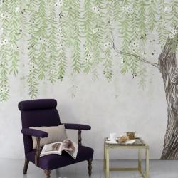 Cora Spring Green Wall Mural