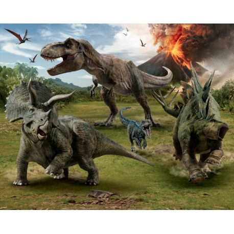 Walltastic Jurassic World Fallen Kingdom Mural