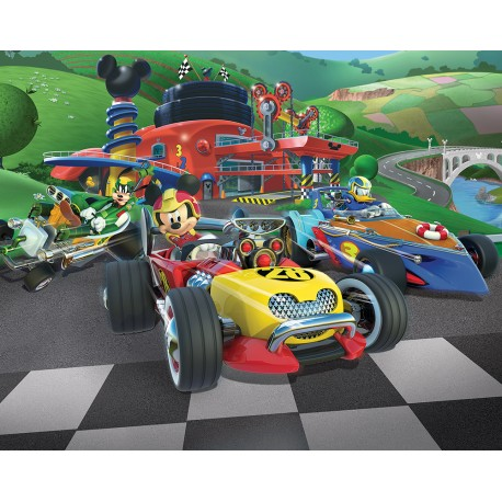 Walltastic Mickey Mouse Roadster Racers Wall Mural