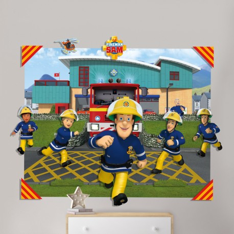 Walltastic Fireman Sam 3D Pop Out Wall Art