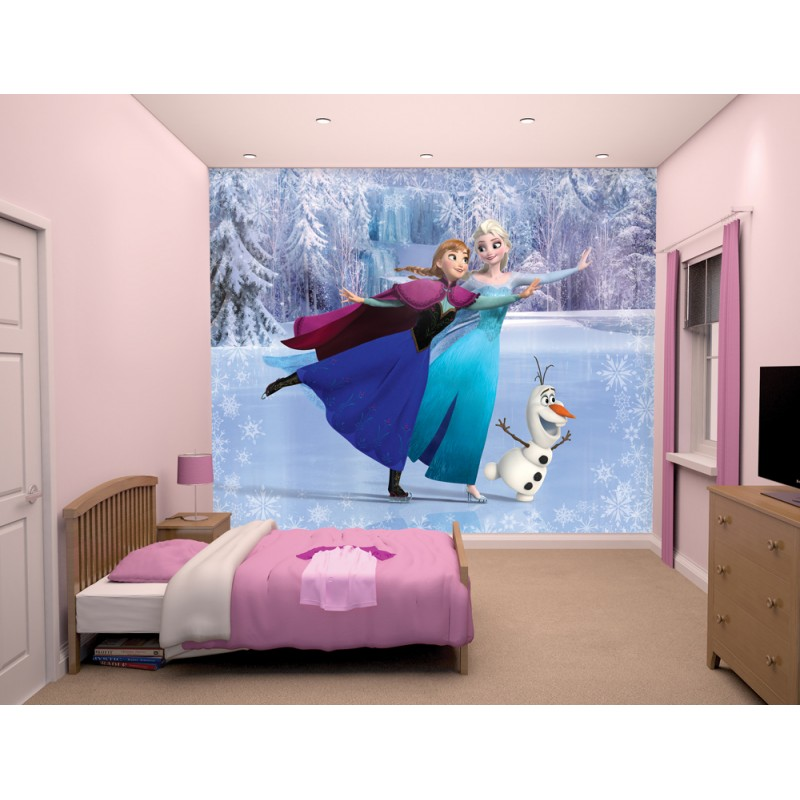 Walltastic Graffiti Wallpaper Mural: Walltastic Disney Frozen Wall Mural