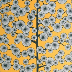 Cotton Tree Sunray Yellow Wallpaper